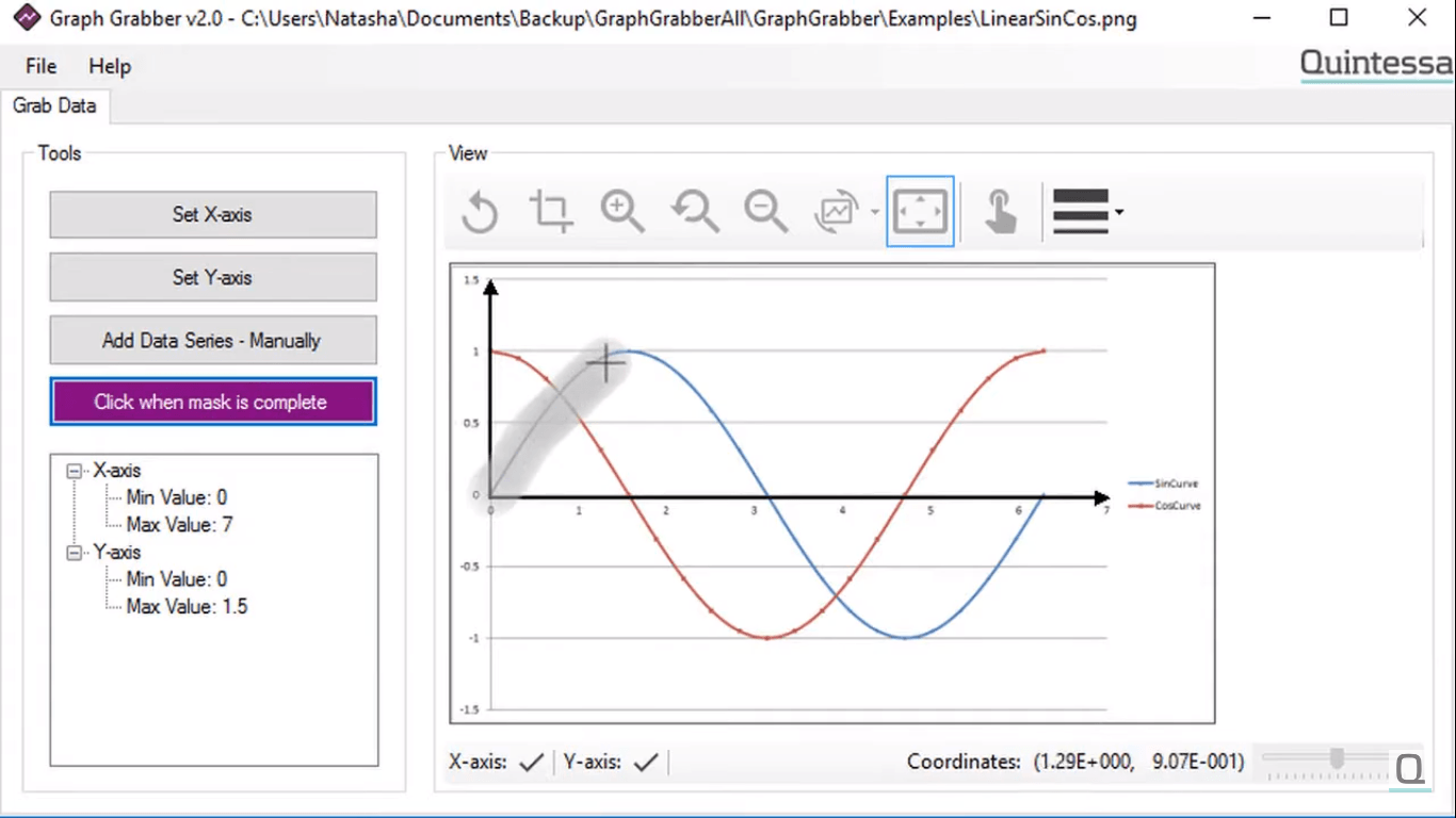 Screenshot of Graph Grabber